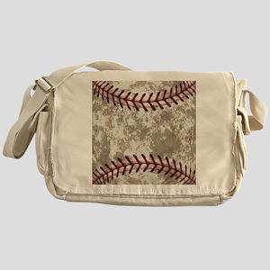 Baseball Vintage Distressed Messenger Bag