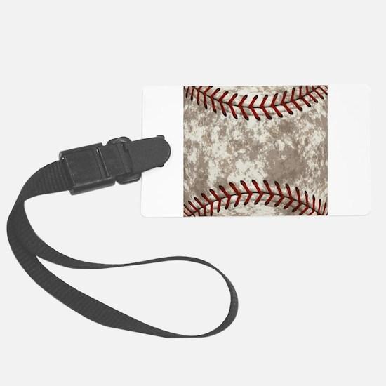 Baseball Vintage Distressed Luggage Tag