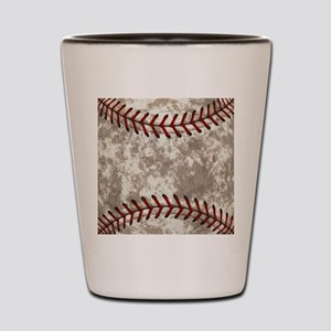 Baseball Vintage Distressed Shot Glass
