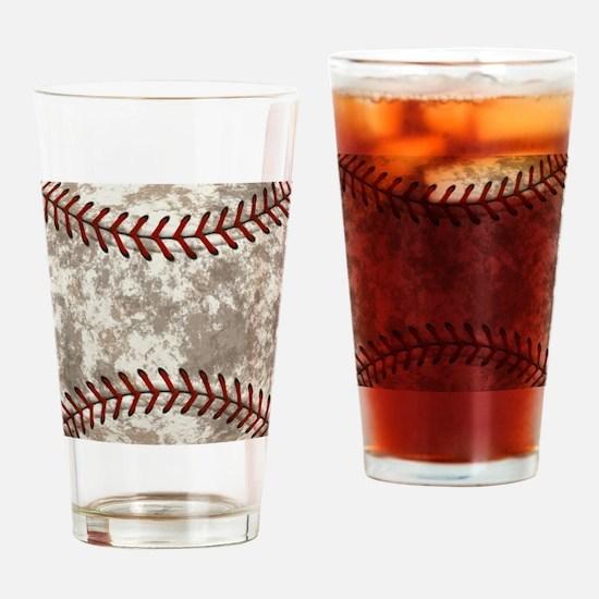 Baseball Vintage Distressed Drinking Glass