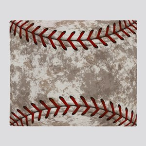 Baseball Vintage Distressed Throw Blanket
