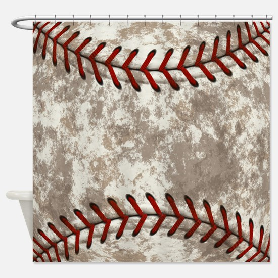 Baseball Vintage Distressed Shower Curtain
