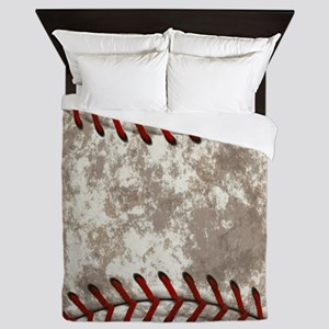 Baseball Vintage Distressed Queen Duvet