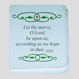 Bible Scripture Psalm 33 22 baby blanket