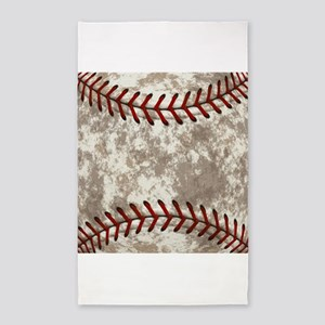 Baseball Vintage Distressed Area Rug