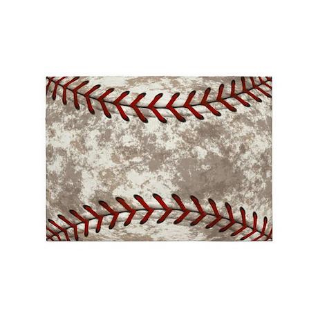 rug vintage baseball