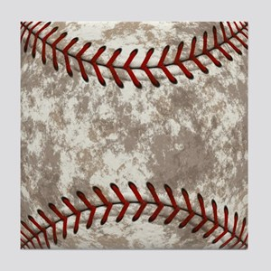 Baseball Vintage Distressed Tile Coaster