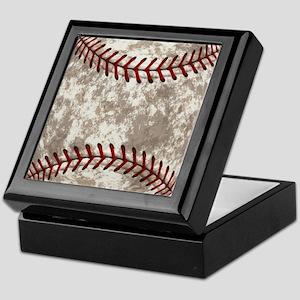 Baseball Vintage Distressed Keepsake Box