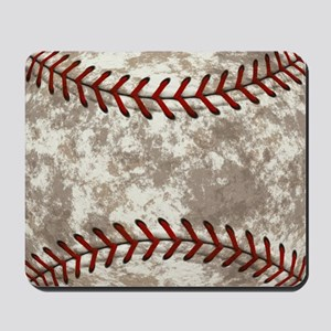 Baseball Vintage Distressed Mousepad