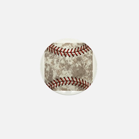 Baseball Vintage Distressed Mini Button