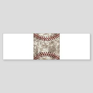 Baseball Vintage Distressed Sticker (Bumper)