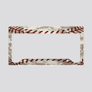 Baseball Vintage Distressed License Plate Holder