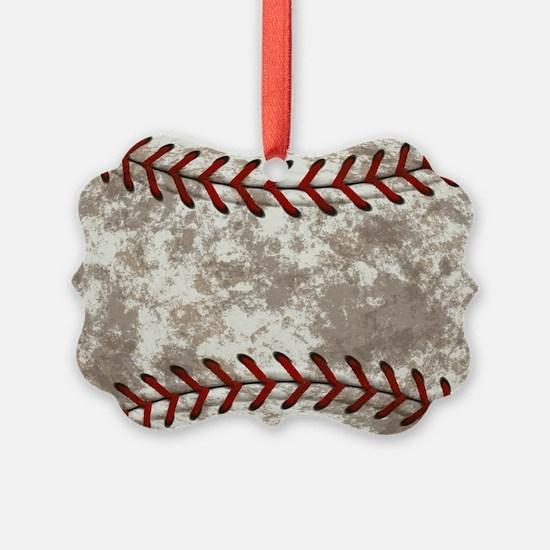Baseball Vintage Distressed Ornament