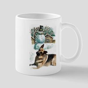 German Shepherd Christmas 11 oz Ceramic Mug