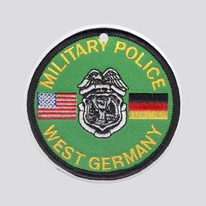 27d1f072d52 U S Military Police West Germany Ornament (Round)