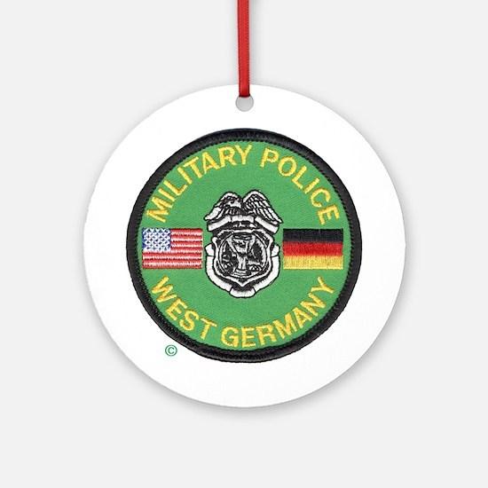 U S Military Police West Germany Ornament (Round)