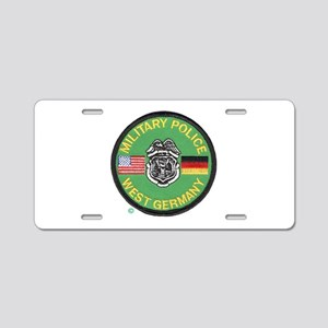 U S Military Police West Germany Aluminum License
