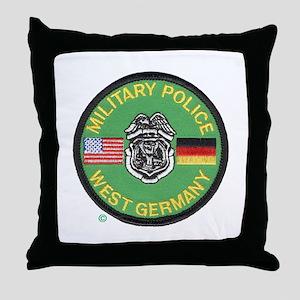 U S Military Police West Germany Throw Pillow