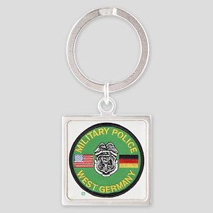 U S Military Police West Germany Square Keychain
