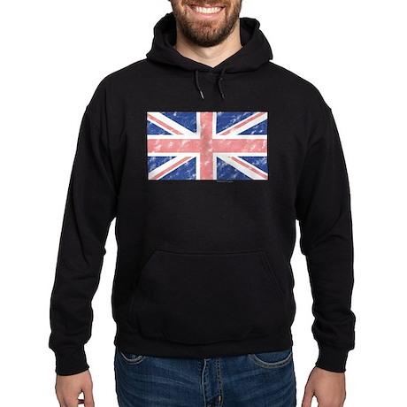 UK Flag Vintage Hoodie (dark)