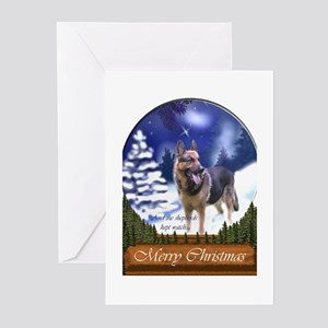 German Shepherd Christma Greeting Cards (Pk of 20)