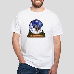 German Shepherd Christmas White T-Shirt
