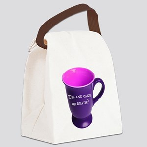 Tea and cake or death? Canvas Lunch Bag