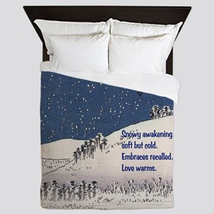Hiroshige and Haiku Queen Duvet