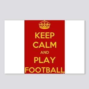 Keep Calm Play Football Postcards (Package of 8)