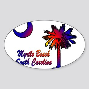 Myrtle Beach 8 Sticker (Oval)
