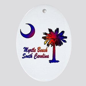 Myrtle Beach 8 Ornament Oval