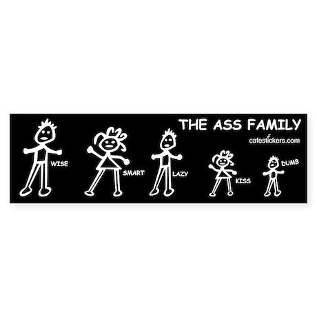 The Ass Family Sticker