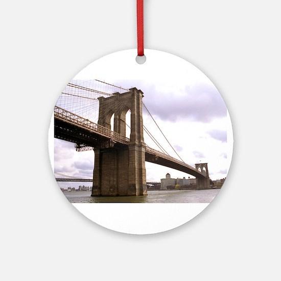 Brooklyn Bridge (Morning) Ornament (Round)