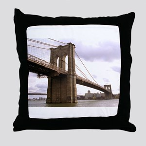 Brooklyn Bridge (Morning) Throw Pillow
