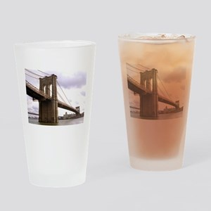 Brooklyn Bridge (Morning) Drinking Glass