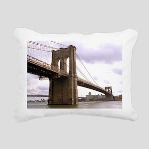 Brooklyn Bridge (Morning) Rectangular Canvas Pillo