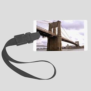 Brooklyn Bridge (Morning) Large Luggage Tag