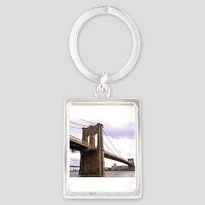 Brooklyn Bridge (Morning) Portrait Keychain