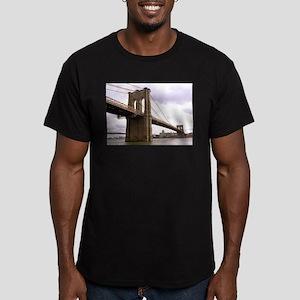 Brooklyn Bridge (Morning) Men's Fitted T-Shirt (da
