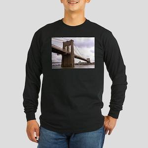 Brooklyn Bridge (Morning) Long Sleeve Dark T-Shirt