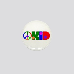 PEACE FLOWER KID Mini Button