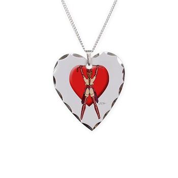 Dominatrix Valentine Necklace Heart Charm