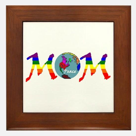 Peace on Earth Mom (RB) Framed Tile