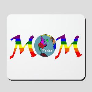 Peace on Earth Mom (RB) Mousepad