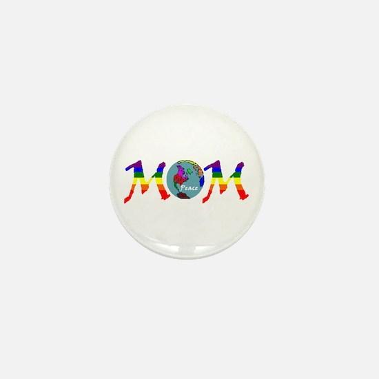 Peace on Earth Mom (RB) Mini Button