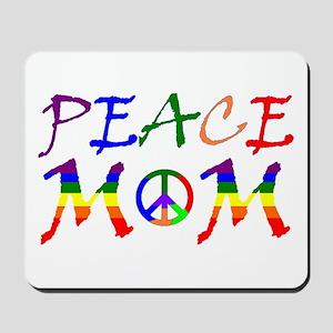 Rainbow Peace Mom Mousepad
