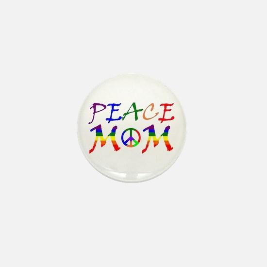 Rainbow Peace Mom Mini Button