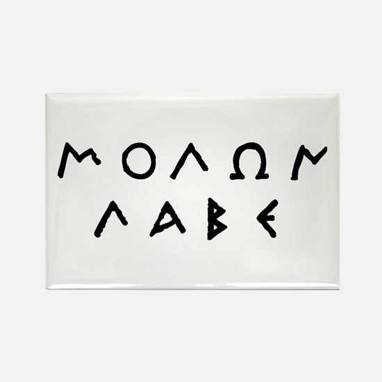 Molon Labe Rectangle Magnet (10 pack)