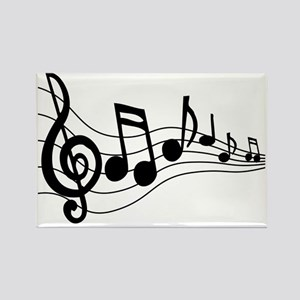 Music Notes - Rectangle Magnet