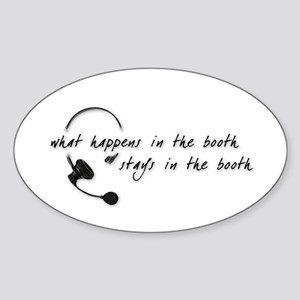 In the Booth Sticker (Oval)